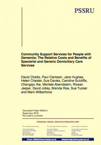 Community support services for people with dementia
