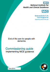End of life care for people with dementia commissioning guide