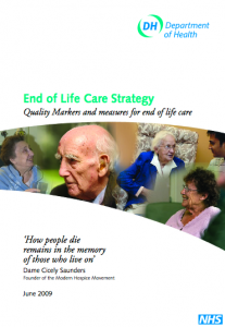 Quality markers and measures for end of life care