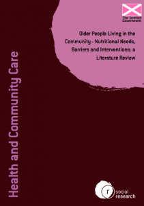Older people living in the community - nutritional needs, barriers and interventions: a literature review