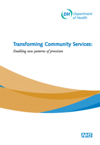 Transforming community services: enabling new patterns of provision