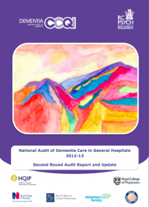 National Audit of Dementia, 2013