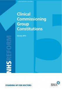 Guidance on clinical commissioning group constitutions