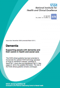 Clinical guideline CG42 Dementia