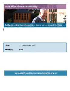 Guidance on the commissioning of memory assessment services