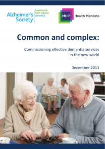 Common and complex: commissioning effective dementia services in the new world