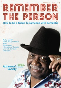 Alzheimer's Society Remember the person leaflet