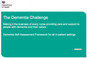 Dementia self-assessment framework for all in-patient settings