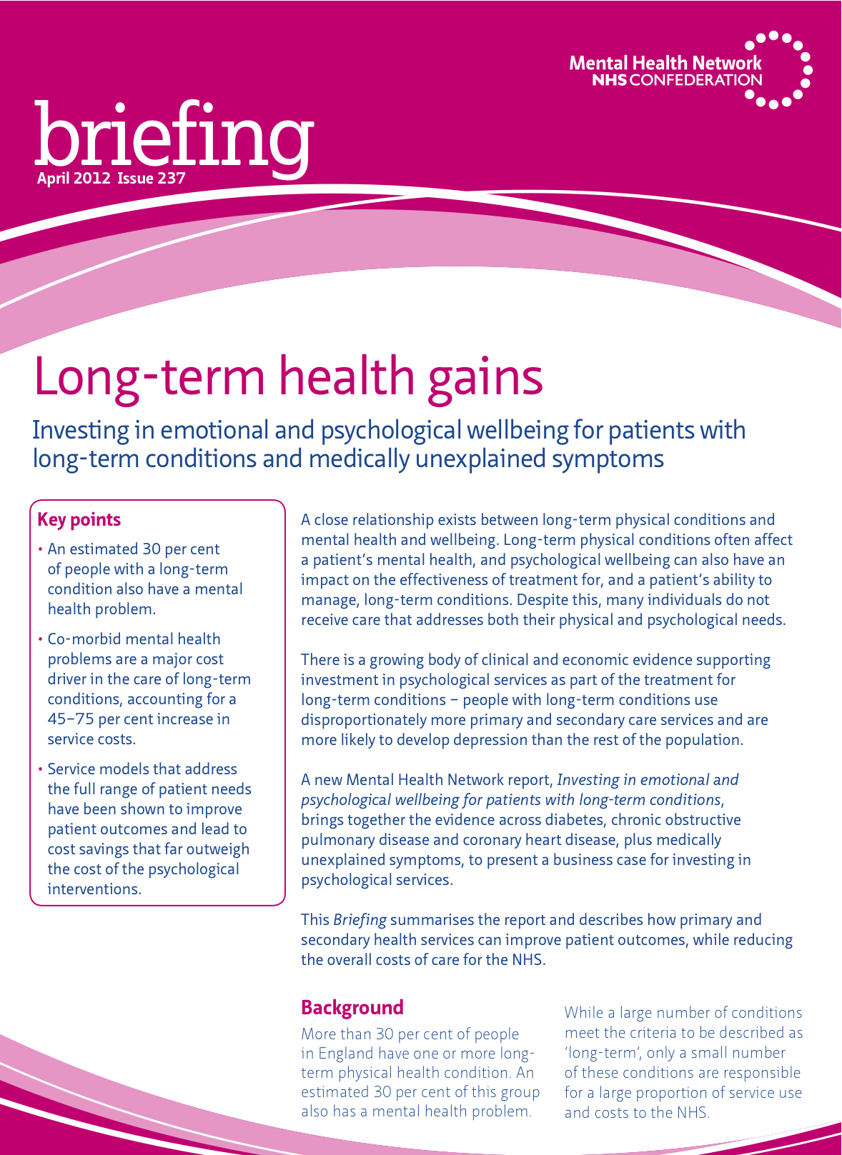 Long-term health gains