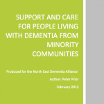 Support and care for people living with dementia from minority communities
