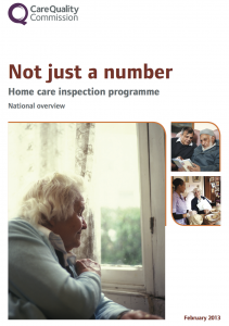 Not just a number: Review of home care services