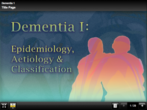 Computer aided learning packages about dementia