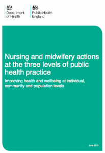 Nursing and midwifery actions at the three levels of public health practice