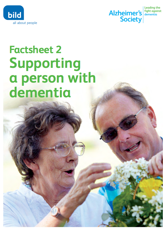 support and caring for a person with dementia essay