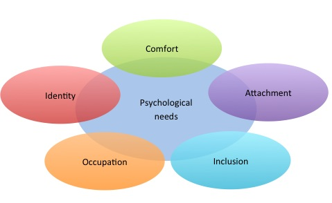 Psychological and social factors which people need to have met in order to maintain well-being